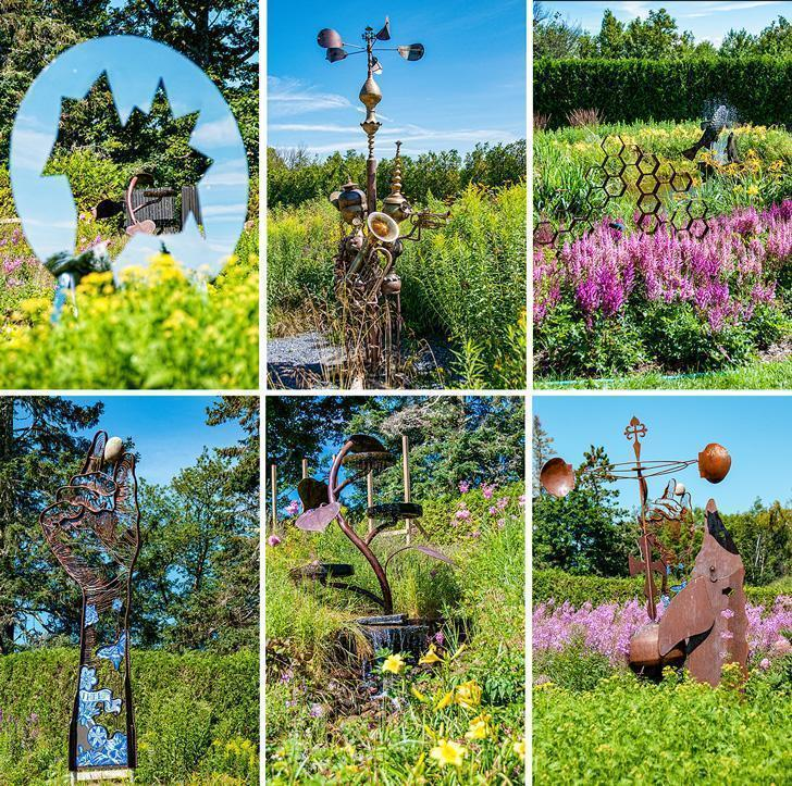 The Sculpture Garden at Kingsbrae is home the the past competition winners.