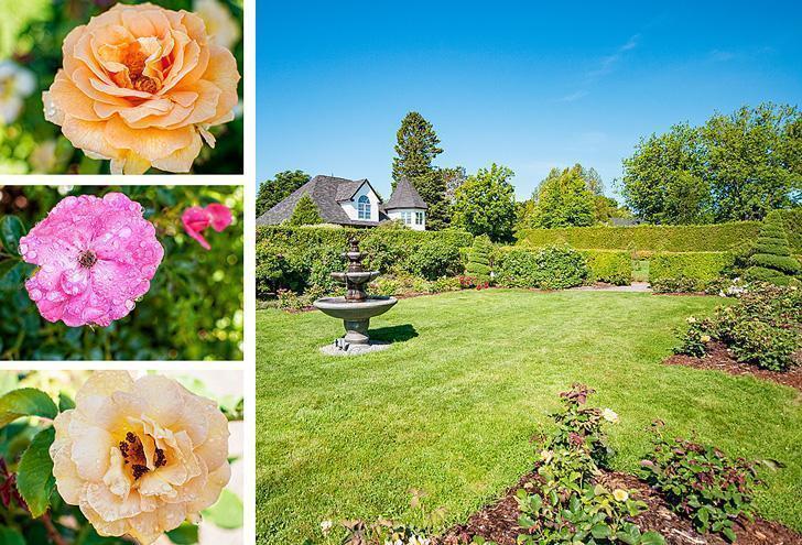 The Rose Garden at Kingsbrae Gardens, St. Andrews, NB