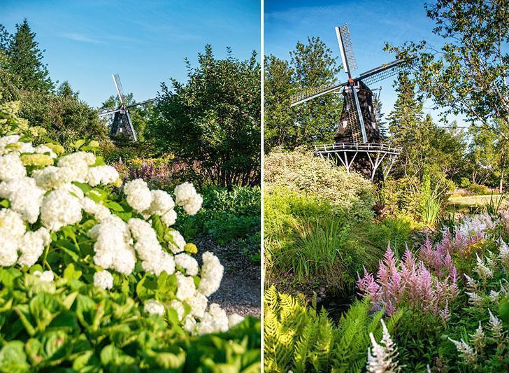 The Kingsbrae Windmill can been seen from most places inside the garden
