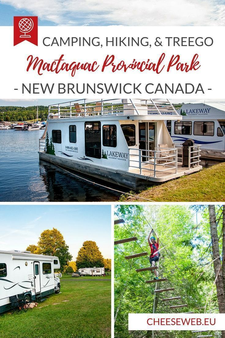 We discover Mactaquac Provincial Park in New Brunswick, Canada where we go camping, hiking, and climbing through the treetops at TreeGo.