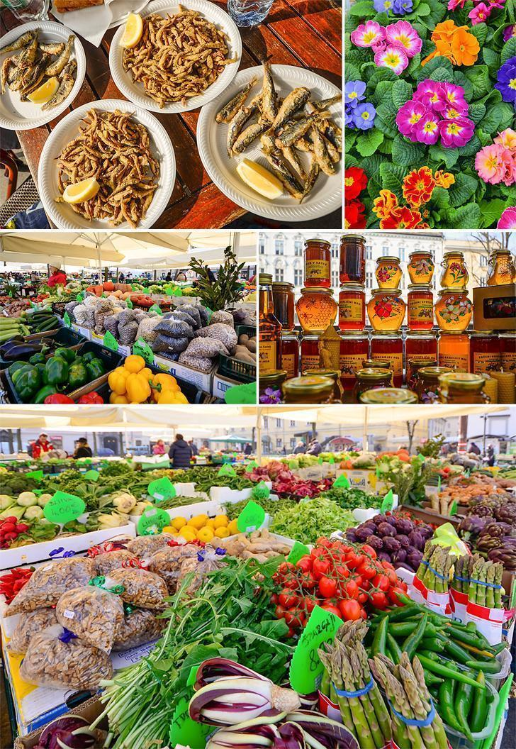 A visit to Ljubljana's Central Market is one of the top things to do in Slovenia for foodies.