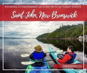 We take a kayak tour of Dominion Park, part of the Stonehammer Geopark in Saint John, New Brunswick, to see stromatolites, with Go Fundy Events.