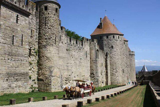 Take a tour of Carcassonne in a horse-drawn carriage