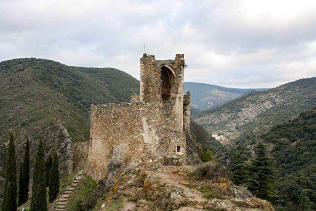 Discover the castle ruins at Lastourns, near Carcassonne, France