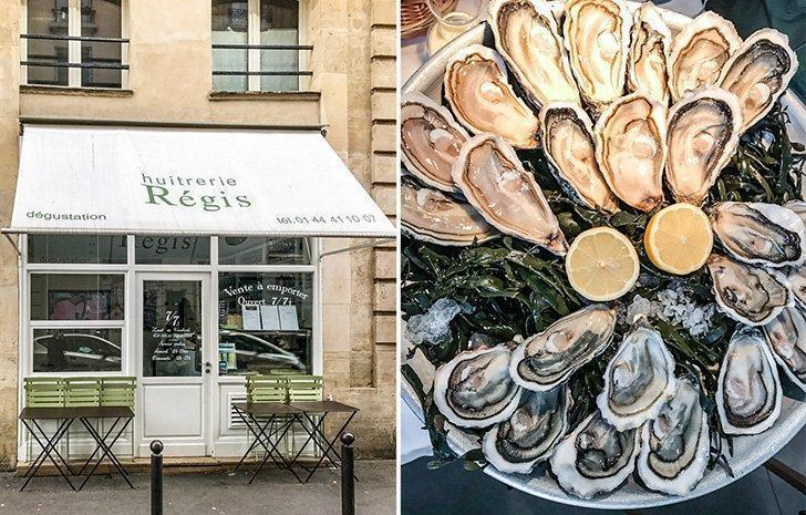 Feast on incredible fresh oysters at Huitrerie Régis in Paris, France