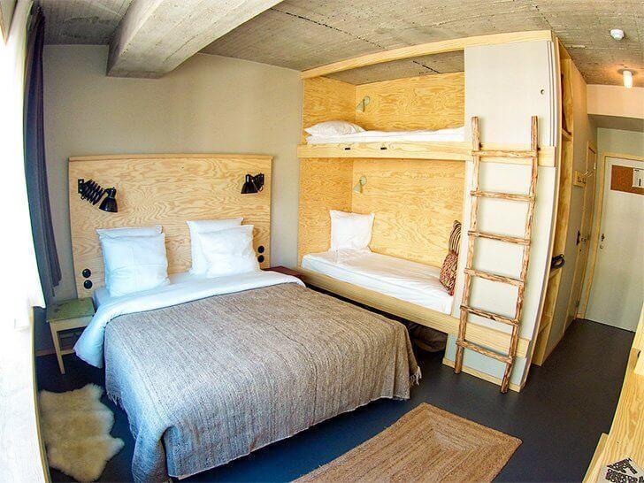 The Jam Hotel in Brussels has family friendly rooms. Kids love the bunk beds!
