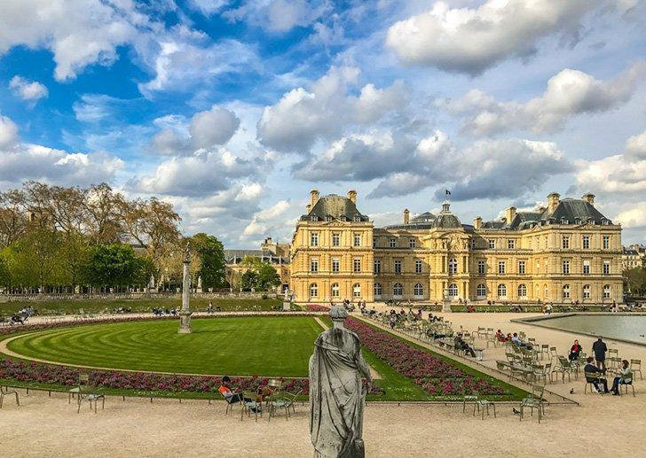Paris' Jardin du Luxembourg is the ideal place for a picnic after shopping at the market