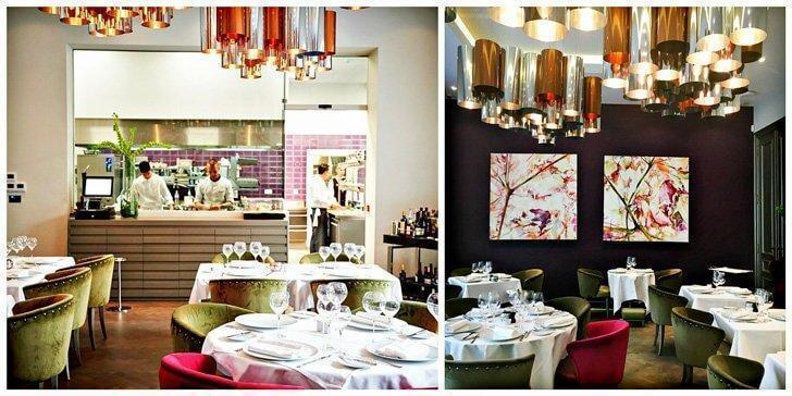 Restaurant Brugmann's Grand Salon with its open kitchen and inviting colours