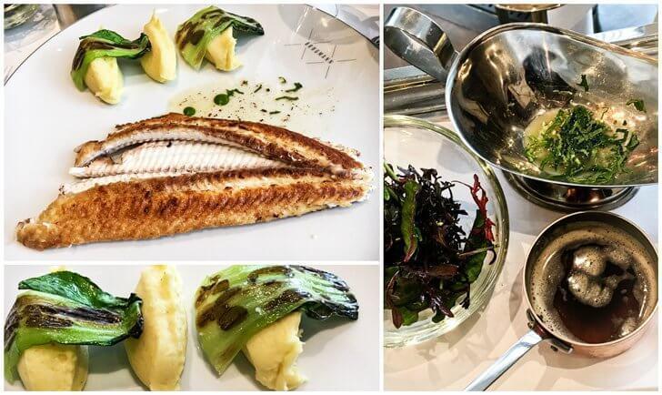Sole Meunier, served with salad, potatoes and hazelnut butter at Restaurant Brugmann, Brussels