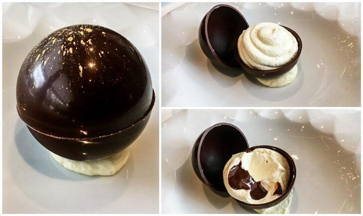 Restaurant Brugmann's signature dessert, Dame Blanche Brugmann