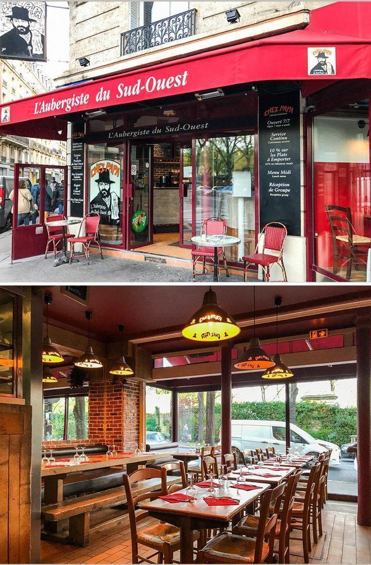 Chez Papa Restaurant in Paris, France