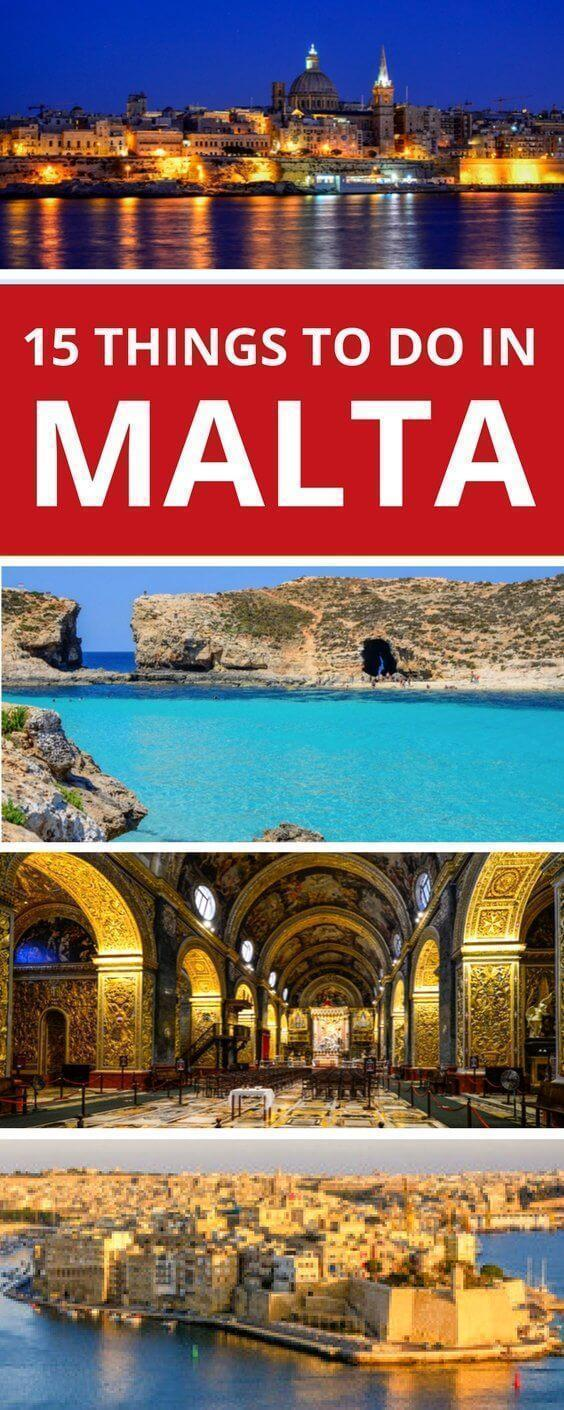 15 Top things to do in Malta including things to see in Malta, where to stay in Malta, restaurants in Malta and more.