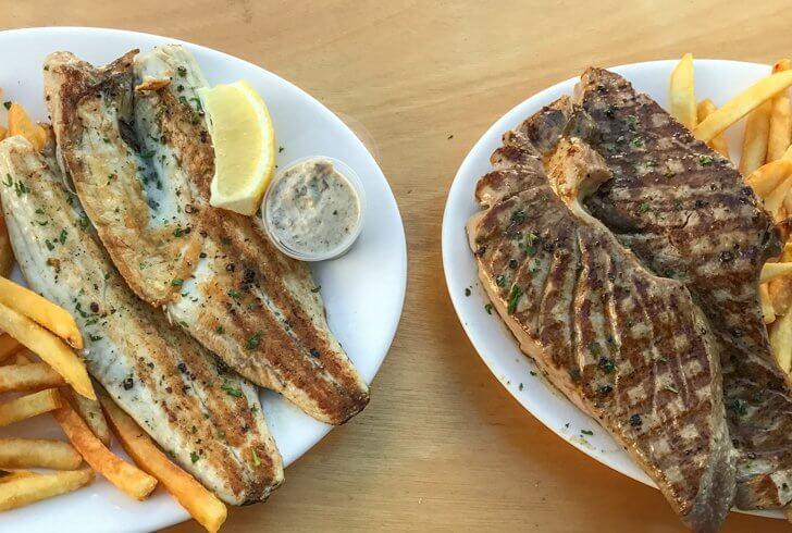 Dinner at Fins and Gills Restaurant in Malta
