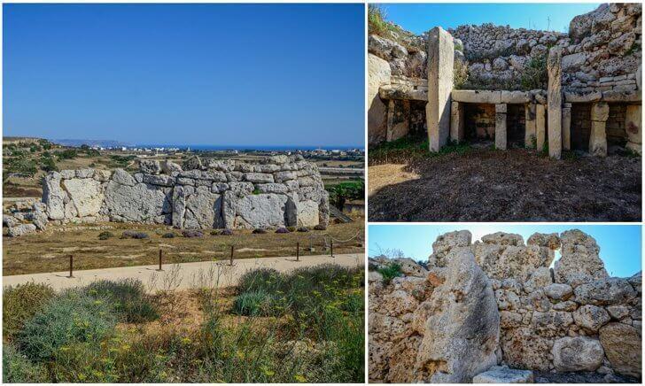 Ggantija Temples on Gozo island in Malta