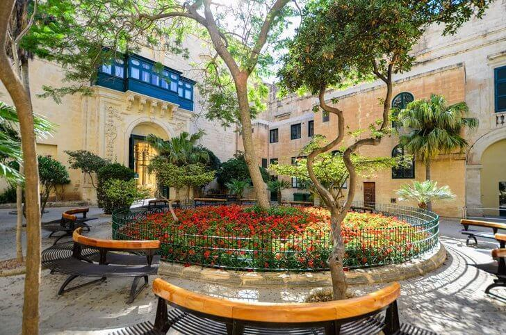 The Grand Master's Palace courtyard, one of the best things to do in Malta