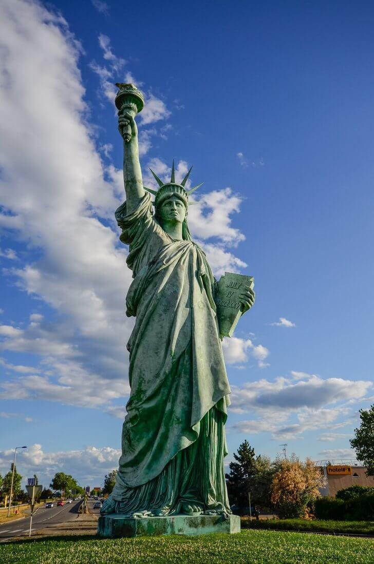 No, it's not New York; this is the Lady Liberty of Colmar
