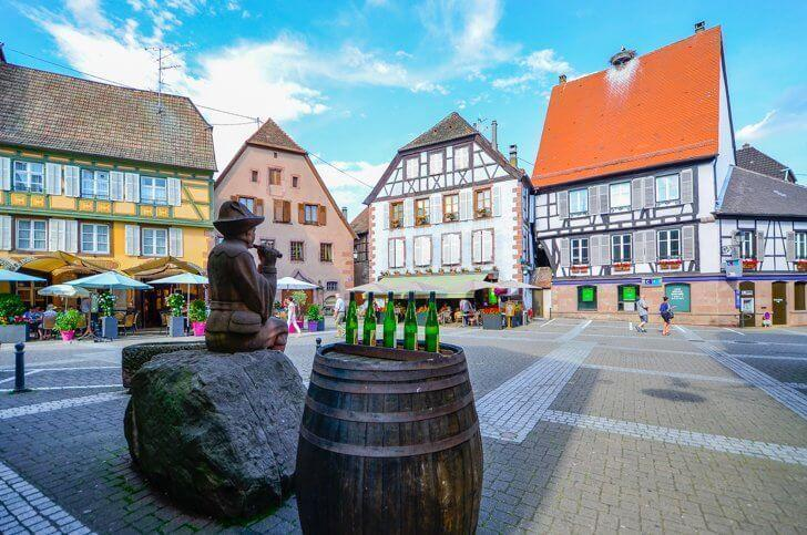 Ribeauville France is a pretty stop on the Alsace wine route