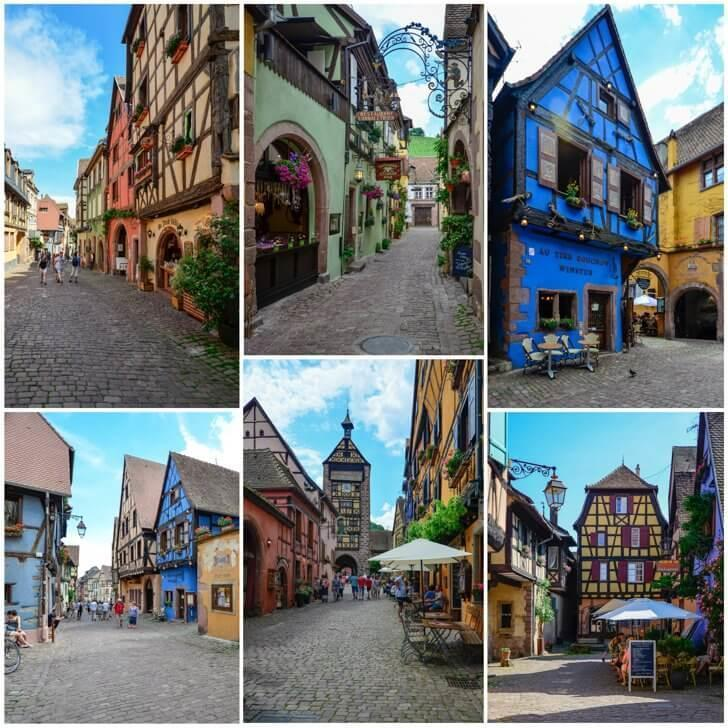 Riquewihr's colourful half-timbered houses