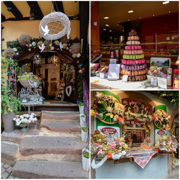 A variety of delicious boutiques in Riquewihr France