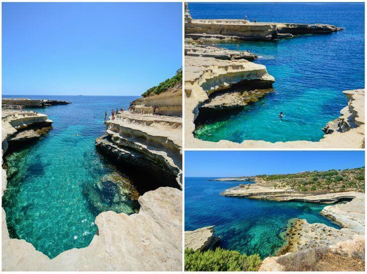 St. Paul's Pool is perfect for swimming in Malta