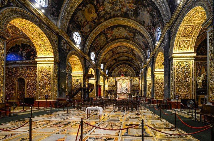 St. John's Co-Cathedral in Valletta Malta