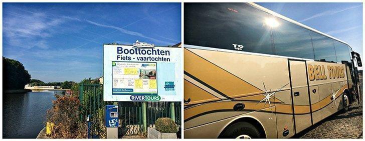 Departure by motorcoach from Suikerkaai, Halle - Boat trip Brussels