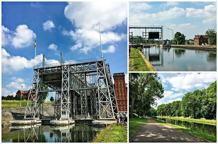 The historic boat lift of Houdeng-Goegnies (a UNESCO World Heritage Site), with its picturesque surroundings