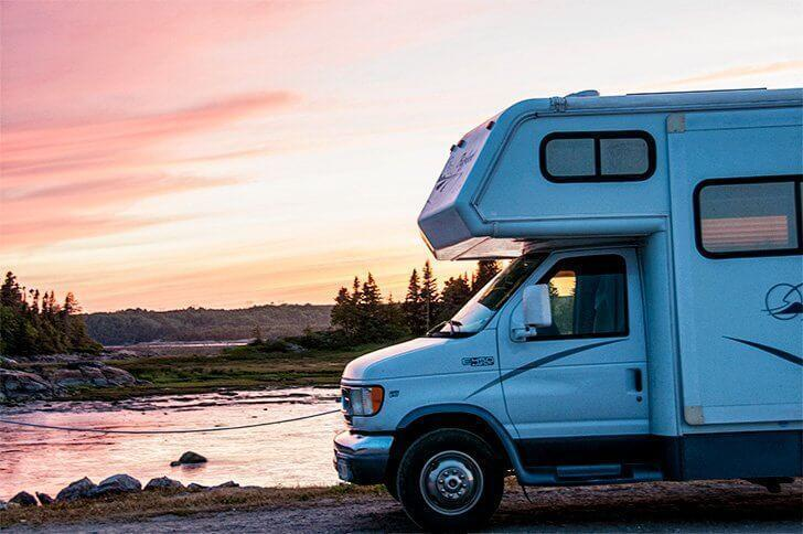 Boondocking in Cote Nord Quebec Maritime.