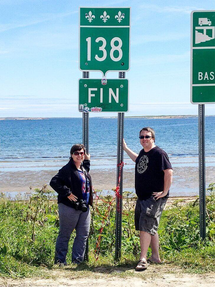 The end of the 138 road in Cote Nord, Quebec