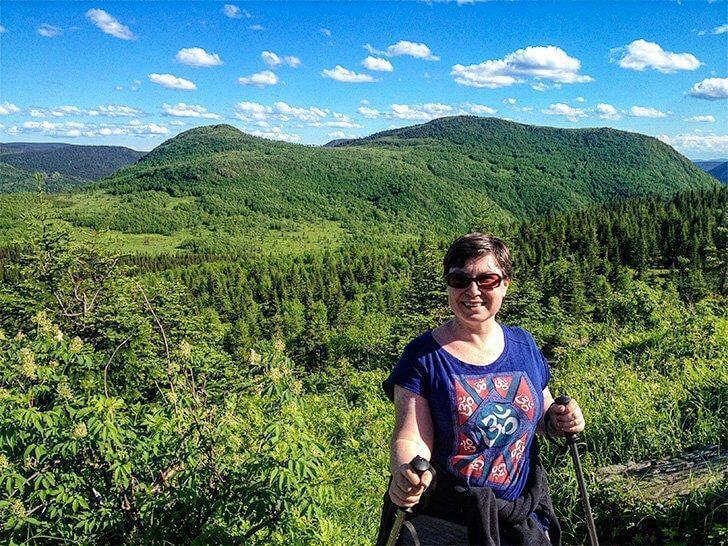 Hiking in Gaspesie National Park Quebec