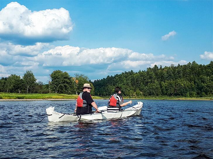 The ONAK is a light, strong, portable canoe perfect for our RV lifestyle