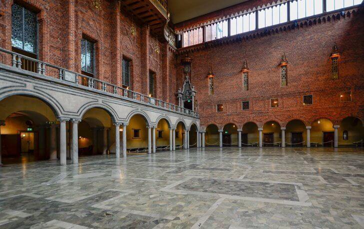 Step inside Stockholm's City Hall