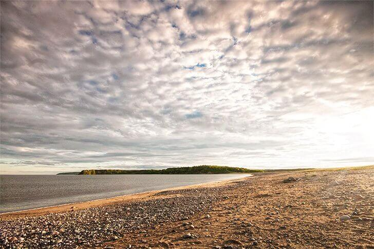 The Irving Nature PArk as seen from Saints Rest Beach in Saint John New Brunswick
