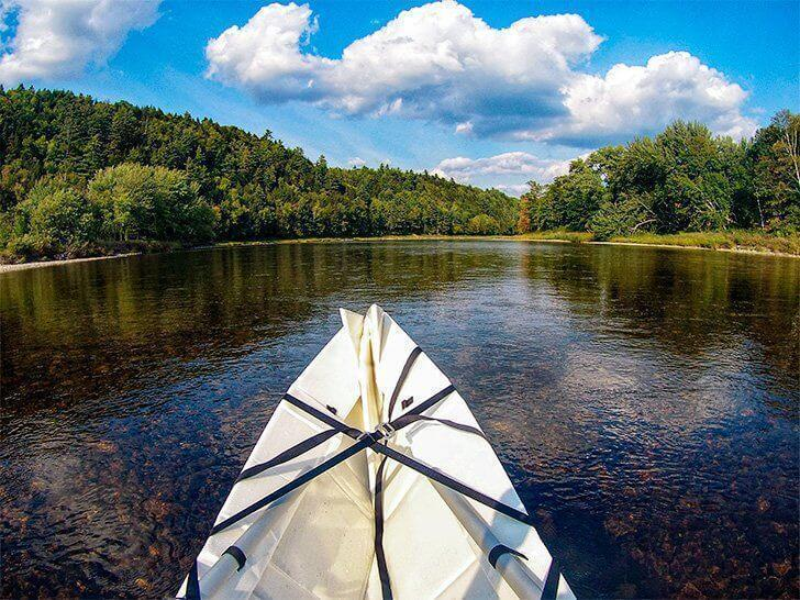 It would be hard to ask for a better day than canoeing on the Miramichi River