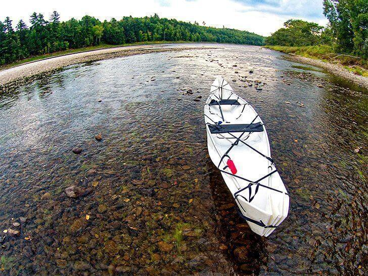 Too shallow to paddle on the Miramichi River, NB