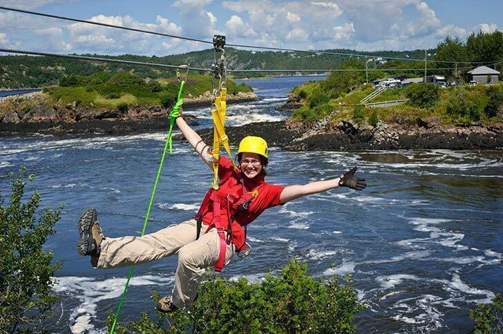 Zip over the Reversing Falls with Saint John Adventures - Things to do in Saint John New Brunswick