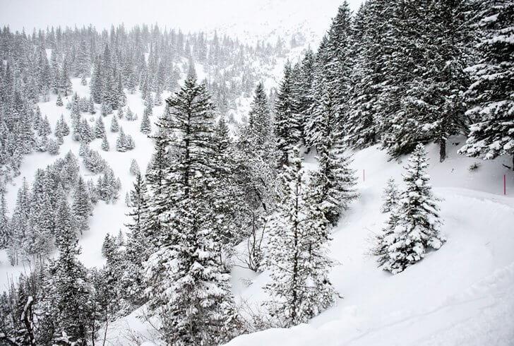 A snowy winter's hike in Malbun, Liechtenstein