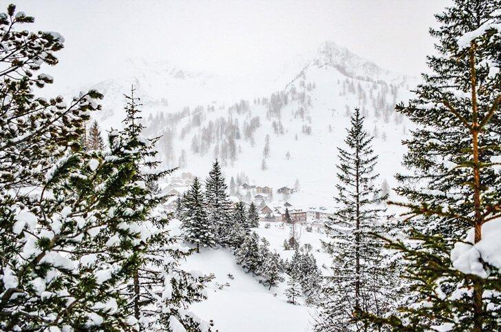 Wintry views in Malbun, Liechtenstein