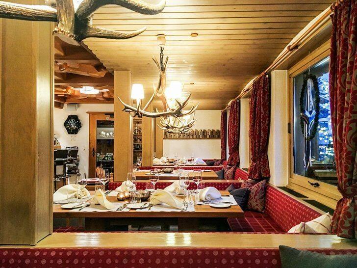 Restaurant Walserhaf interior, Malbun, Liechtenstein