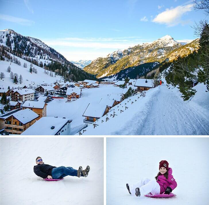 sledding in malbun liechtenstein