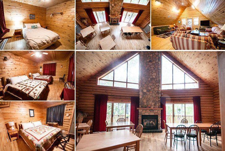 Stunning wilderness accommodations at the Metepenagiag Lodge, near Miramichi, NB