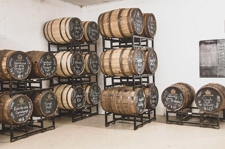 Peek behind the scenes at Distillerie Fils du Roy.