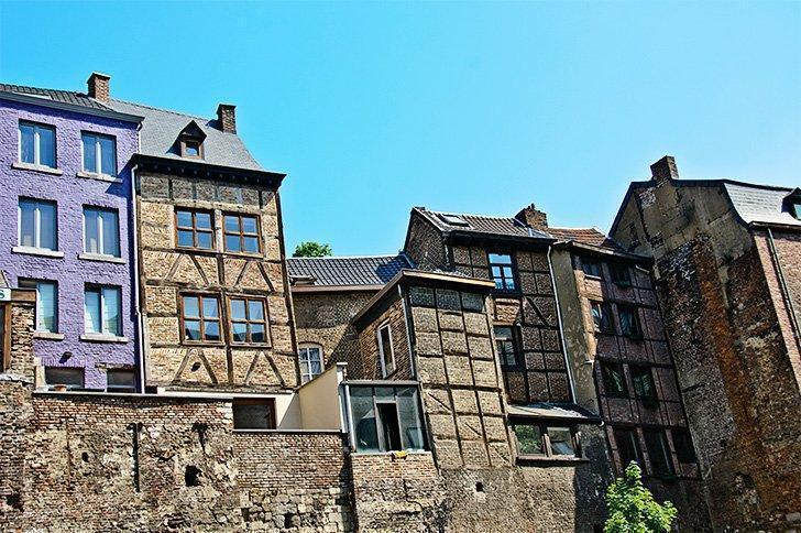 Timber-frame architecture in the heart of Liege Belgium.