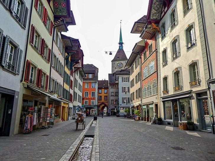 Aarau, Switzerand's Old Town centre.