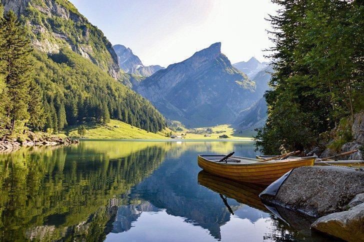 alpstein mountain range near zurich switzerland
