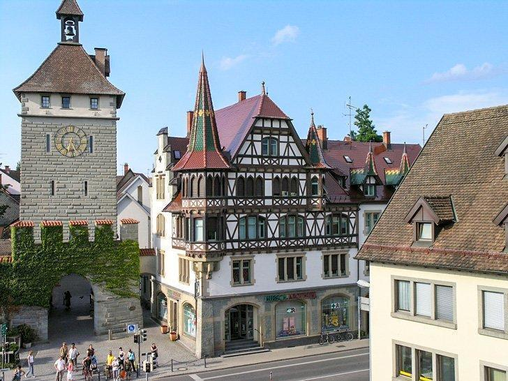 The German town of Constance or Konstanz has a charming old town center.