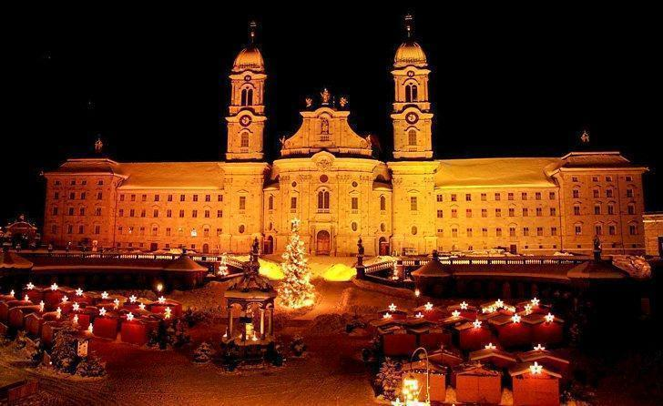 Einsiedeln Monastery hosts a stunning Swiss Christmas Market that is an easy day trip from Zurich.