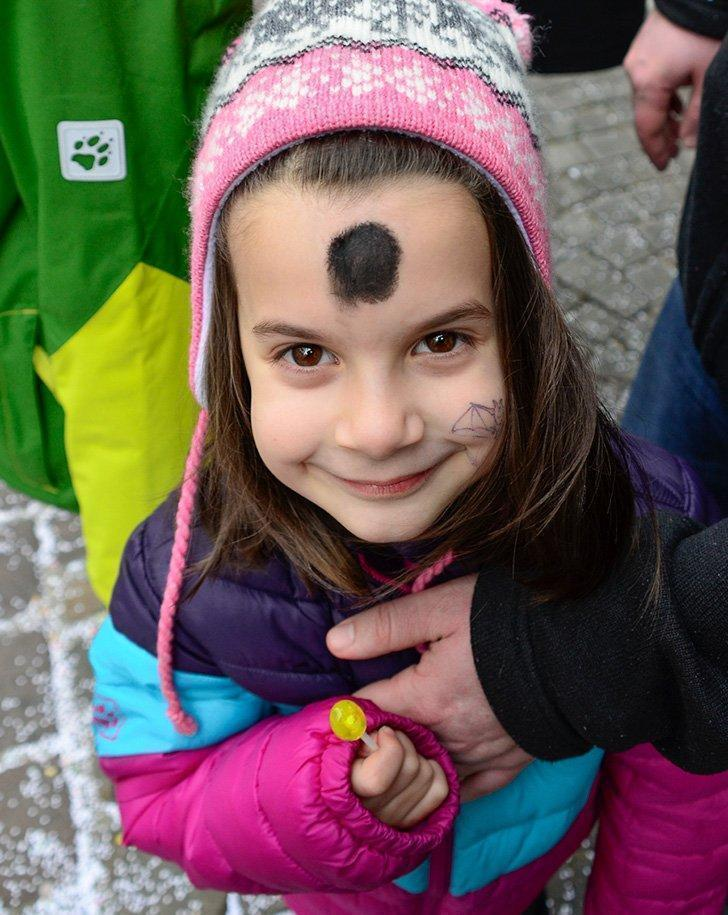 Face painting is not always optional at the Fasnet parades.