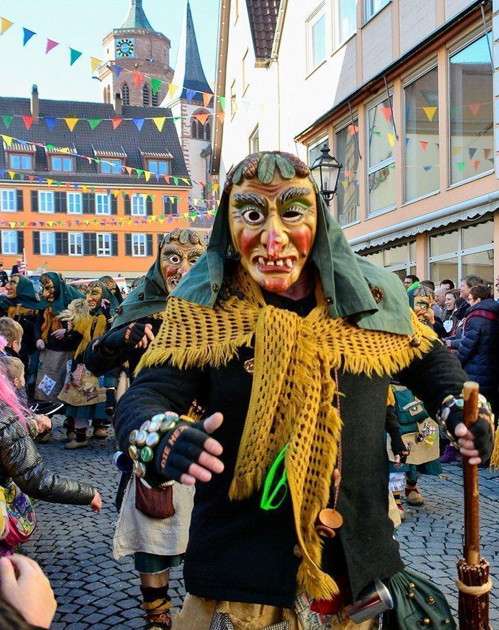 Fasnet carnival in Weil der Stadt Germany