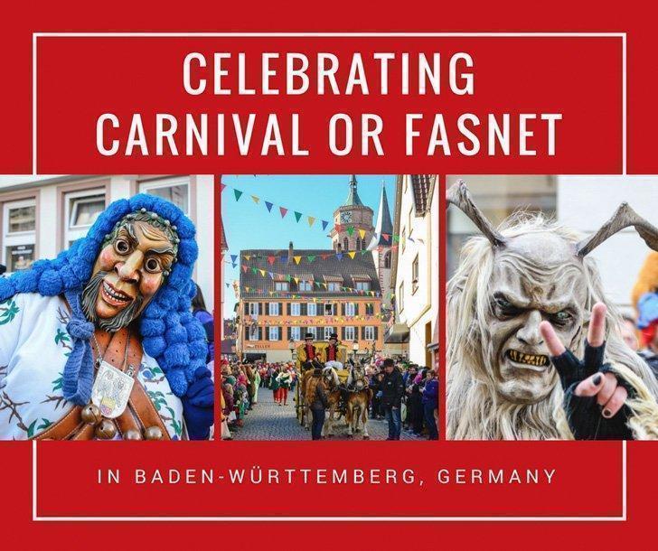 Celebrating Carnival or Fasnet in Baden-Württemberg, Germany